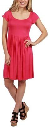 24/7 Comfort Apparel 24Seven Comfort Apparel Lillian Cap Sleeve Fit and Flare Dress