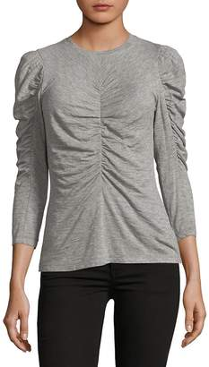 Rebecca Taylor Women's Long Sleeve Ruched Jersey Top