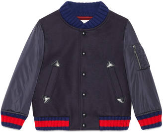 Children's wool nylon bomber jacket $860 thestylecure.com