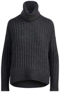 Ralph Lauren Alpaca-Wool Turtleneck Sweater Charcoal Xs