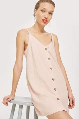 Topshop Button Mini Slip Dress