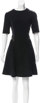Rag & Bone Leather-Accented Mini Dress