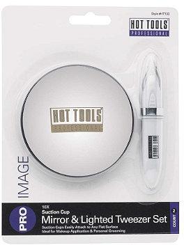 Hot Tools 10X Mirror & Lighted Tweezers