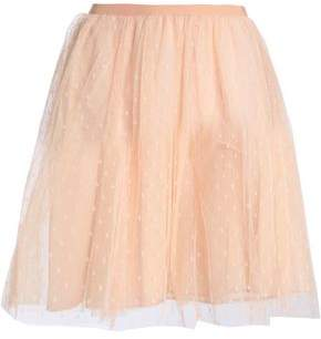 RED Valentino Gathered Point D'esprit Mini Skirt