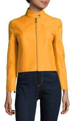 Akris Shiver Cotton-Blend Zipper Jacket