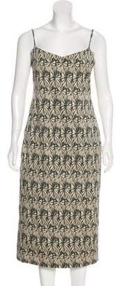 Wes Gordon Sleeveless Midi Dress