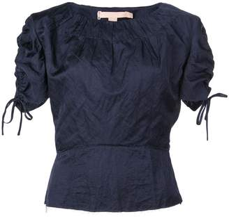 Brock Collection tie-fastening ruched top