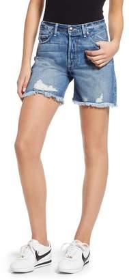 Good American High Waist Cutoff Denim Shorts (Blue 197) (Regular & Plus Size)