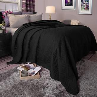 Somerset Home Solid Color Bed Quilt, Full/Queen, Black