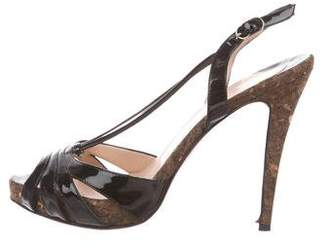 Christian Louboutin Patent Leather Multistrap Sandals
