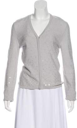 Salvatore Ferragamo Sequin Wool Cardigan