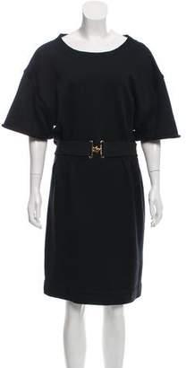 Louis Vuitton Belted Knee-Length Dress