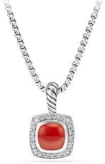 David Yurman Petite Albion Diamond Pendant Necklace