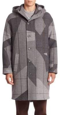 Erik Hart Camo Hooded Virgin Wool-Blend Coat