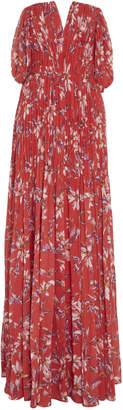 AMUR Kyla Printed Chiffon Maxi Gown
