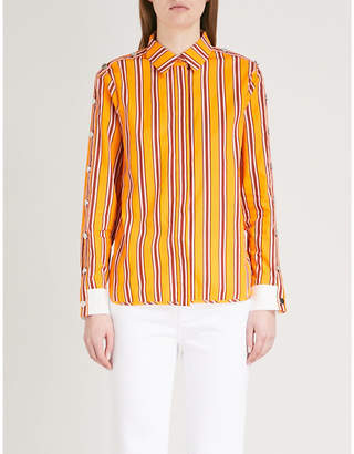 Maje Striped cotton shirt