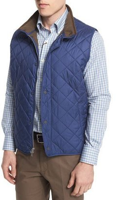 Peter Millar Hudson Quilted Vest, Blue $165 thestylecure.com