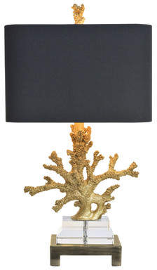 Couture Couture, Inc. Coastal Retreat Coral 25.5 Table Lamp