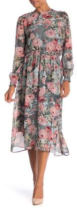 ABS by Allen Schwartz Collection Floral Print Smocked Maxi Dress
