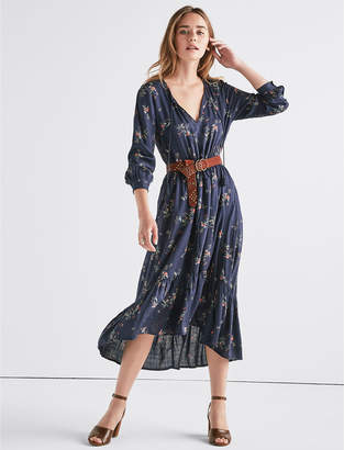 Lucky Brand PRINTED PUFF SLEEVE DRESS