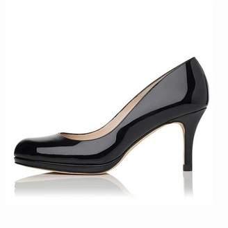 LK Bennett Sybila Black Patent Heel