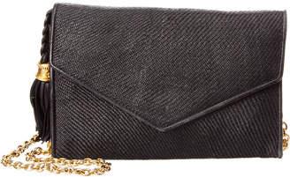 Chanel Black Woven Raffia Flap Bag