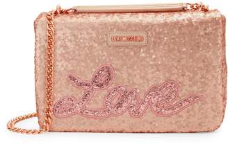 Love Moschino Sequin Logo Sparkle Crossbody Bag