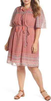Lucky Brand Jenna Print Peasant Dress