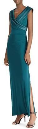 Ralph Lauren Surplice Off-the-Shoulder Gown