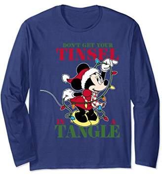 Disney Christmas Minnie Tangled Tinsel Long Sleeve T-shirt