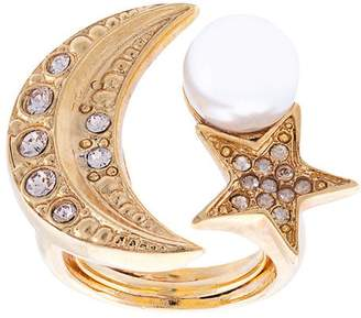 Oscar de la Renta moon and stars ring