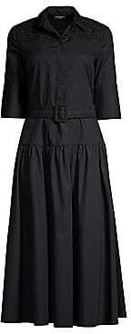Piazza Sempione Women's Belted A-Line Shirtdress