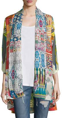 Johnny Was Mix-Print Kimono Jacket