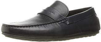 HUGO BOSS HUGO by Men's Travelling Dandy Moccasin in Navy Leather Slip-on Loafer
