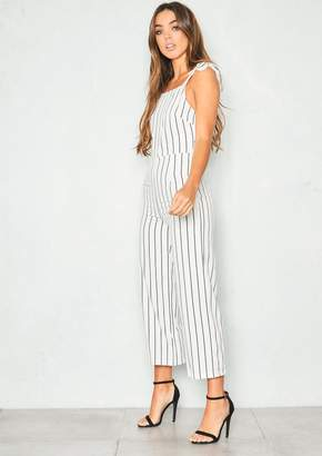 5bef0962d9a6 at Missy Empire · Missy Empire Missyempire Jenny White Stripe Culotte  Jumpsuit