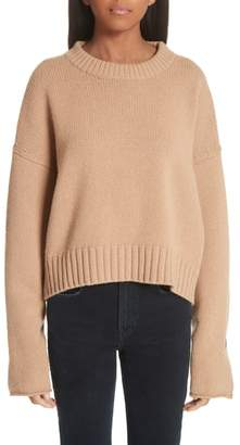 Proenza Schouler Button Cuff Wool & Cashmere Blend Sweater