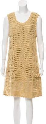 Diane von Furstenberg Crocheted Sleeveless Dress