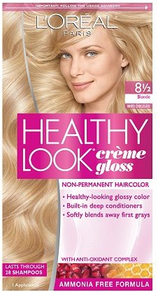 L'Oreal Healthy Look Creme Gloss Hair Color Blonde White Chocolate 8 1/2