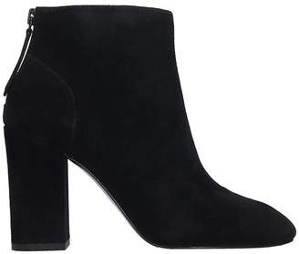 Ash Joy Ankle Boots In Black Suede