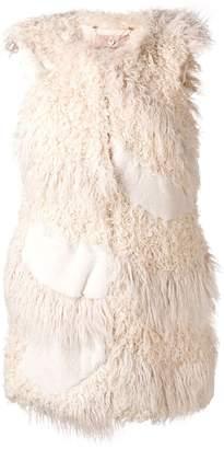 Twin-Set faux fur patch gilet