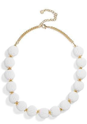 BaubleBar Beaded Ball Statement Necklace