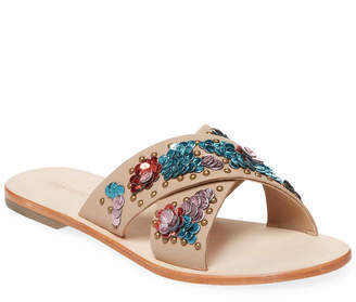 Saks Fifth Avenue Embellished Cross Band Sandal
