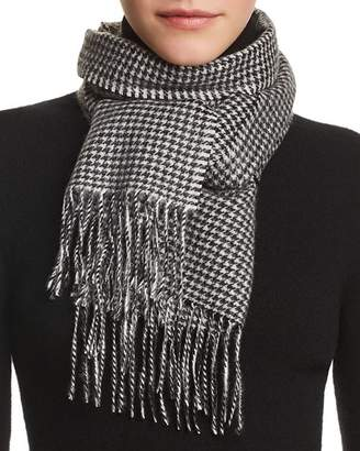 Bloomingdale's C by Mini Houndstooth Cashmere Scarf - 100% Exclusive