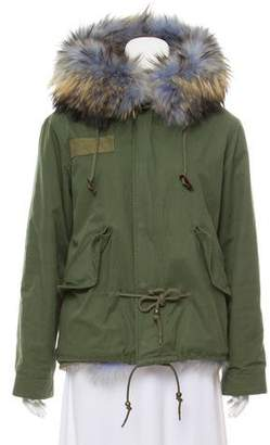 Mr & Mrs Italy Fur-Trimmed Woven Jacket