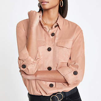 River Island Womens Pink button front shacket