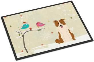 Caroline's Treasures Christmas Presents Between Friends Border Collie Doormat Mat
