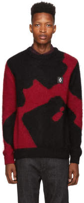 Marcelo Burlon County of Milan Black and Red Camou Sweater