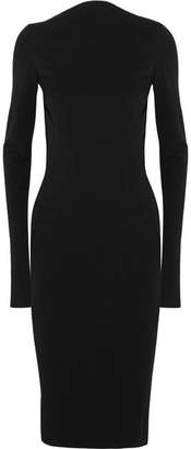 Rick Owens - Cotton-blend Cady Dress - Black $995 thestylecure.com