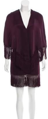 Andrew Gn Fringe-Trimmed Mini Dress