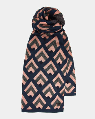 Ted Baker ROXSCAF Geo knitted scarf